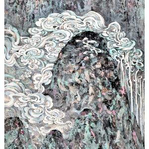 云起楚山 248cm*129cm 2002年