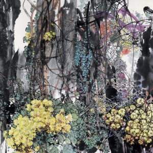 春洒雨林-178X96CM-2000年