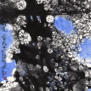 春风吹绽满树花-68X136CM-2016年