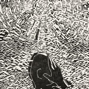 1998.11.2,122×82cm,木刻版画,1998年