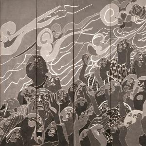 1999.5.1,488×732cm,木刻版画,1999年