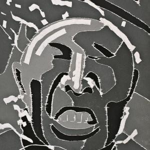 2000.6.15,122×81cm,木刻版画,2000年