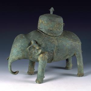 浏阳文靖书院祭器铜象尊