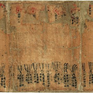 Book copied on silk, Divination by Astrological and Meteorological Phenomena